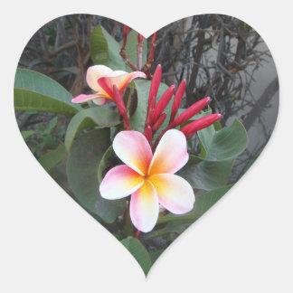 Flowers in the Park Heart Sticker