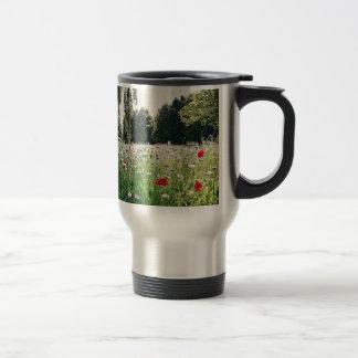 Flowers in the park travel mug