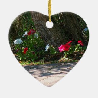 Flowers in the Shade Heart Ornament Keepsake