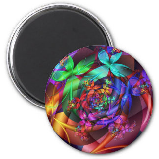Flowers in the Sky 2 Inch Round Magnet