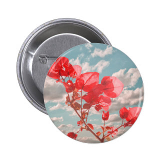 Flowers in the Sky Pinback Buttons
