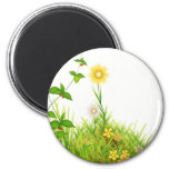 Flowers in the Sun 2 Inch Round Magnet