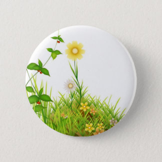 Flowers in the Sun Button