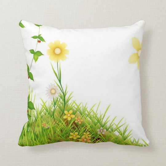 Flowers in the Sun Throw Pillow