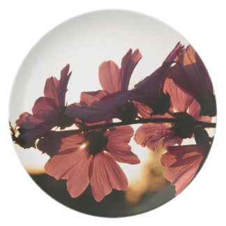 Flowers in the Sunset Melamine Plate
