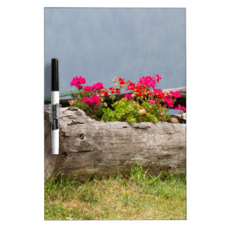 flowers in the tree trunk Dry-Erase board