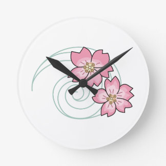 FLOWERS IN THE WIND ROUND CLOCK