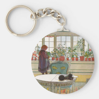 Flowers in the Window Box - Blomsterforstet Key Chain