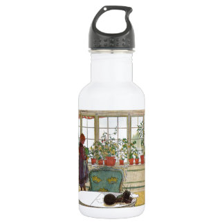 Flowers in the Window Box - Blomsterforstet Water Bottle