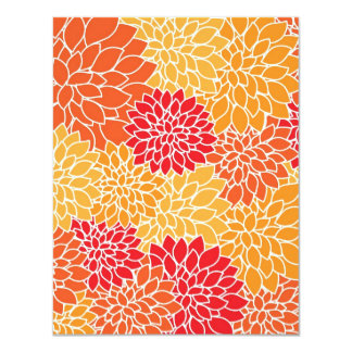 flowers in type abtrato card