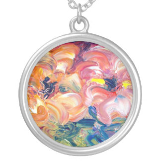 Flowers in Water Necklace