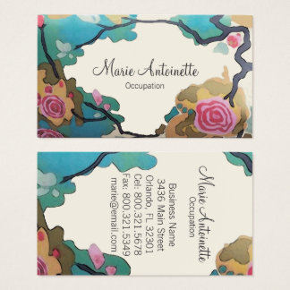 Flowers in Watercolors - Business Cards