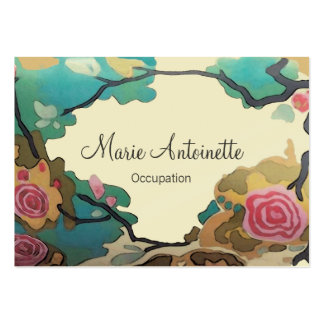 Flowers in Watercolors ~ Business Cards Large