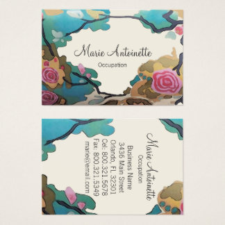 Flowers in Watercolors - Business Cards Large