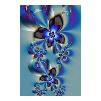 Flowers in winter poster
