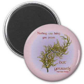 Flowers Inner Peace Inspirational Quote Magnet