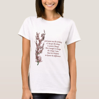 Flowers Inspirational Serenity Prayer T-Shirt