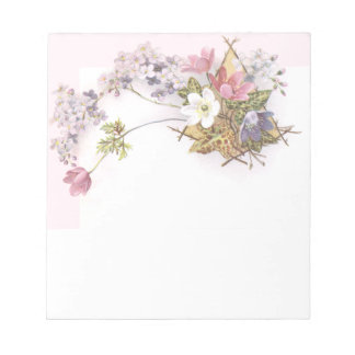 Flowers & Ivy Victorian Trade Card Note Pad