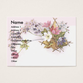 Flowers & Ivy Victorian Trade Cardr Business Card