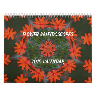 Flowers Kaleidoscope Art 2015 Calendar