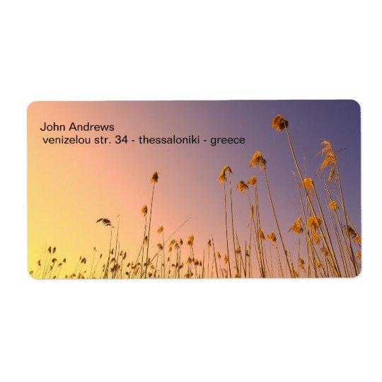 flowers label