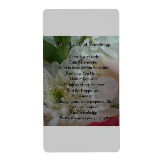 Flowers Shipping Label