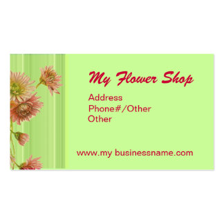 FLOWERS & LACE BY SHARON SHARPE Double-Sided STANDARD BUSINESS CARDS (Pack OF 100)