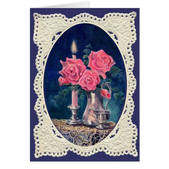 FLOWERS & LACE BY SHARON SHARPE CARD