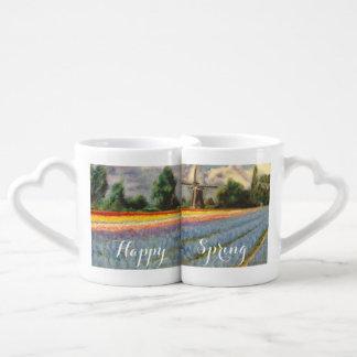 Flowers Landscape customizable Name Coffee Mug Set