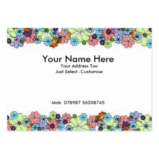 Flowers Large Business Card
