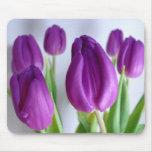 FLOWERS: Lavender Tulips Mousepad