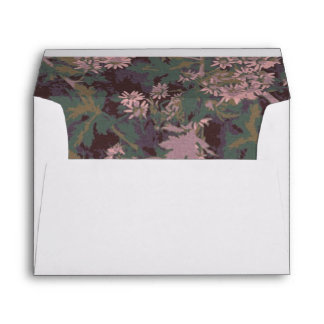 Flowers, leafs, and camouflage envelope