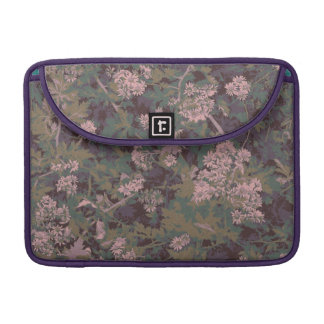 Flowers, leafs, and camouflage sleeve for MacBooks