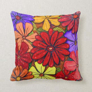 Flowers & Leaves #3 Throw Pillow