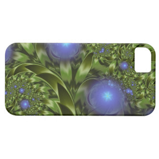 Flowers Leaves Abstract Blue Green Fractal iPhone 5 Cover