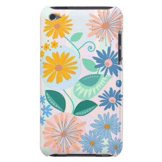 Flowers, Leaves, Circles & stripes custom Barely There iPod Covers