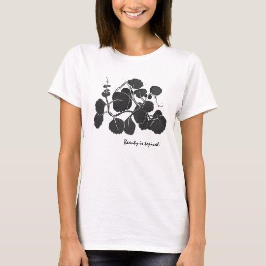 Flowers Leaves Ink Style Shirt