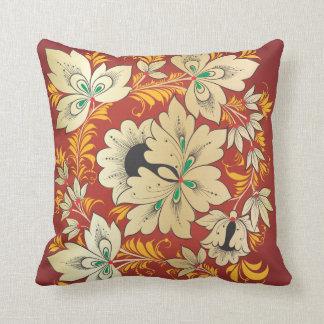 Flowers & Leaves - Russian Folk Art 5 Pillow