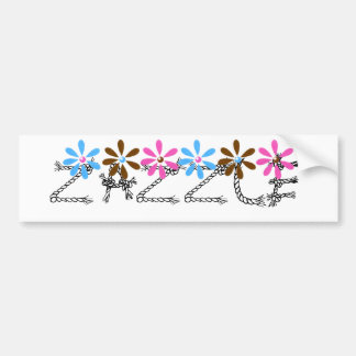 Flowers letters - ZAZZLE Customize Car Bumper Sticker