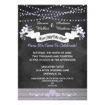 Flowers & Lights Chalkboard Post Wedding Invite