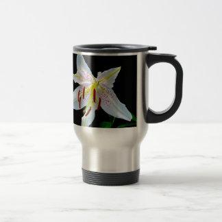 Flowers Lilies Blossoms Wedding Shower Love Peace Travel Mug