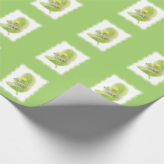 Flowers lilies wrapping paper