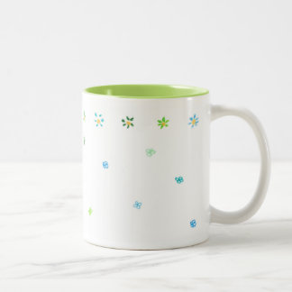 Flowers Lime Two-Tone Mug