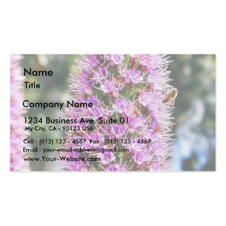 Flowers Lupine Bees Business Card Templates