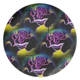 Flowers magic roses 6 dinner plate