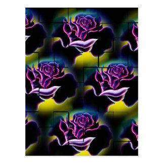 Flowers magic roses 6 postcard