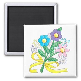 FLOWERS Magnet magnet