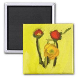 Flowers Fridge Magnet