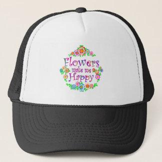 Flowers Make Me Happy Trucker Hat