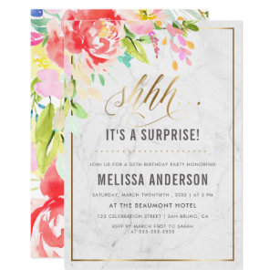 Surprise Birthday Invitations Announcements Zazzle